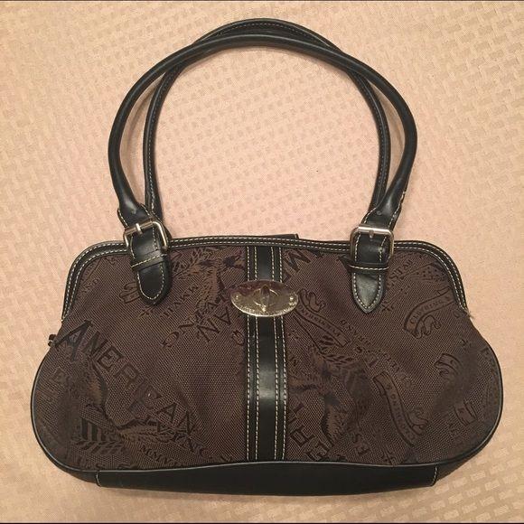 American Living Purse Black And Brown Bag Bags Shoulder