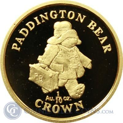 1998 Gibraltar 1 10 Oz Proof Gold Coin Paddington Bear Mintage Of Only 7 500 Gold Coins Coins Gold And Silver Coins