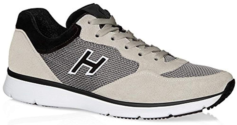 magasin en ligne d0e16 9789e Hogan Homme Hxm2540s421bzc456g Beige/Noir Cuir Baskets ...