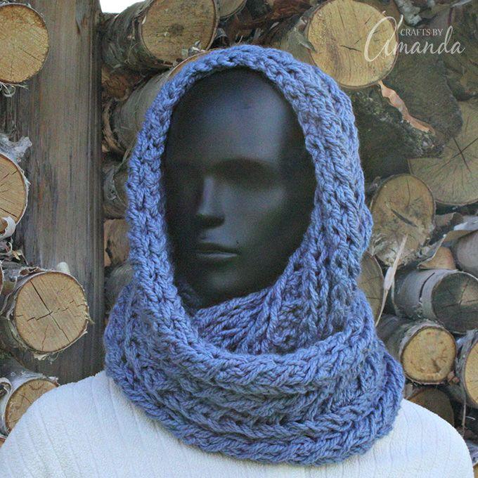 Haz una hermosa bufanda de infinito, patrón de punto gratis ...