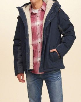 Куртка Hollister 332-328-0627-200 L Тёмно-синяя  d0a6085b4a6de