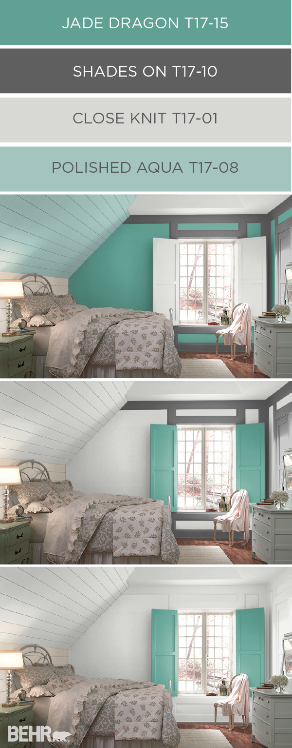 The colorsmart tool by behr helps you plan and preview the for Aqua blue paint for walls