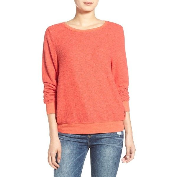 Wildfox 'Baggy Beach Jumper' Pullover ($88) ❤ liked on Polyvore featuring tops, sweaters, holiday red, special occasion tops, pullover sweater, wildfox sweater, red sweater and baggy jumpers
