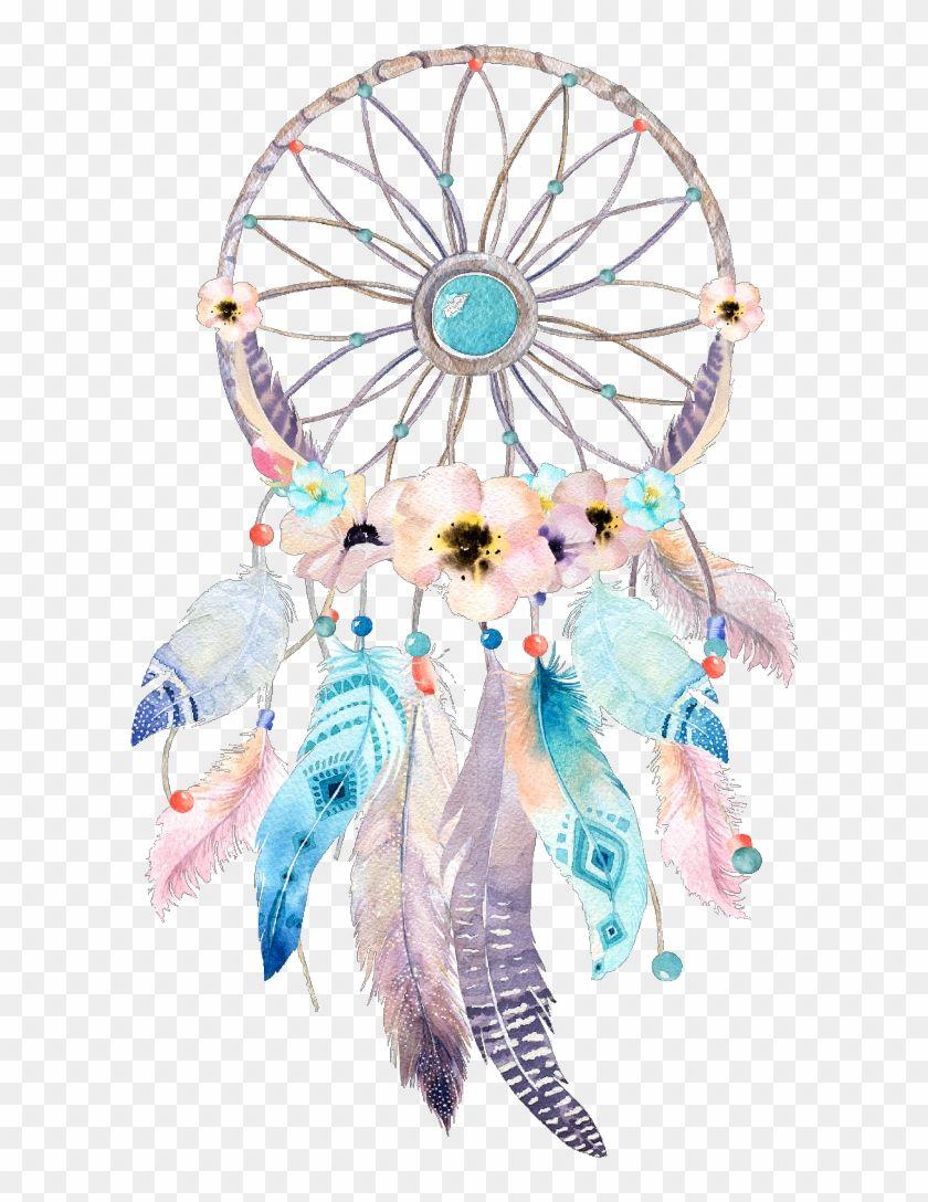 Dreamcatcher Watercolor Flower Wonderland Fairytale Clipart Boho Dream Catcher Hd Png Download Dream Catcher Drawing Dream Catcher Dream Catcher Boho