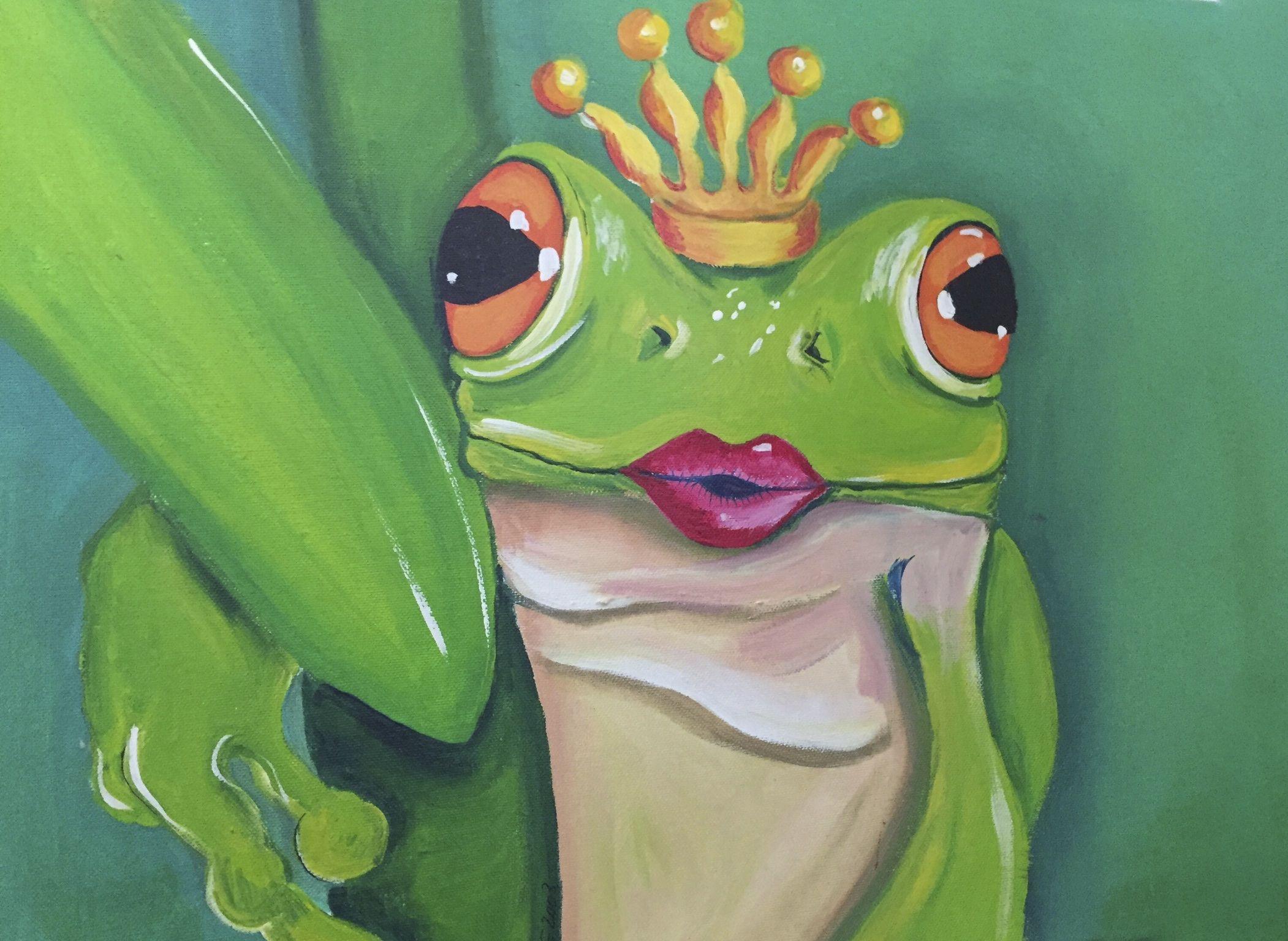 froschkönig  kunst selbstgemachte kunst malerei