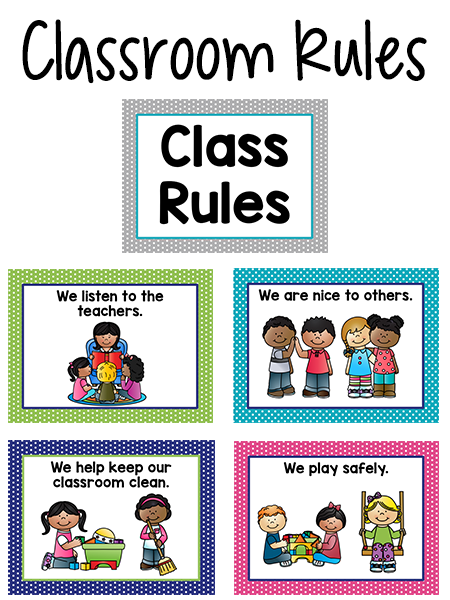 Classroom Rules Ideas ~ Pre k classroom rules back to school