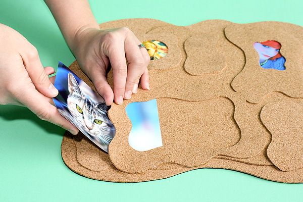 Make Your Own Amoeba-shaped Cork Board Photo Frame | Photojojo