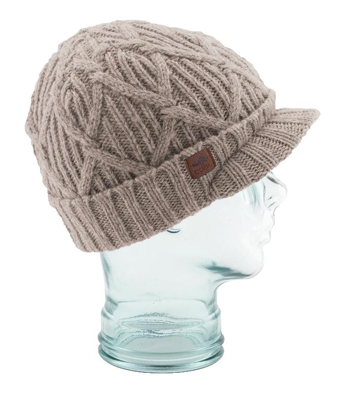 08f5d07db5b Coal Yukon Brim Heritage Knit Wool Beanie Hat