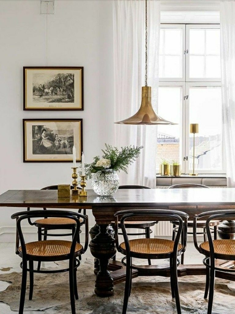 Vintage art paired with contemporary furniture