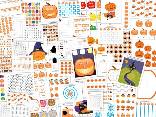jack o lantern printable pack with more than 70 halloween worksheets and activities for kids - Halloween Printable Crafts For Kids 2
