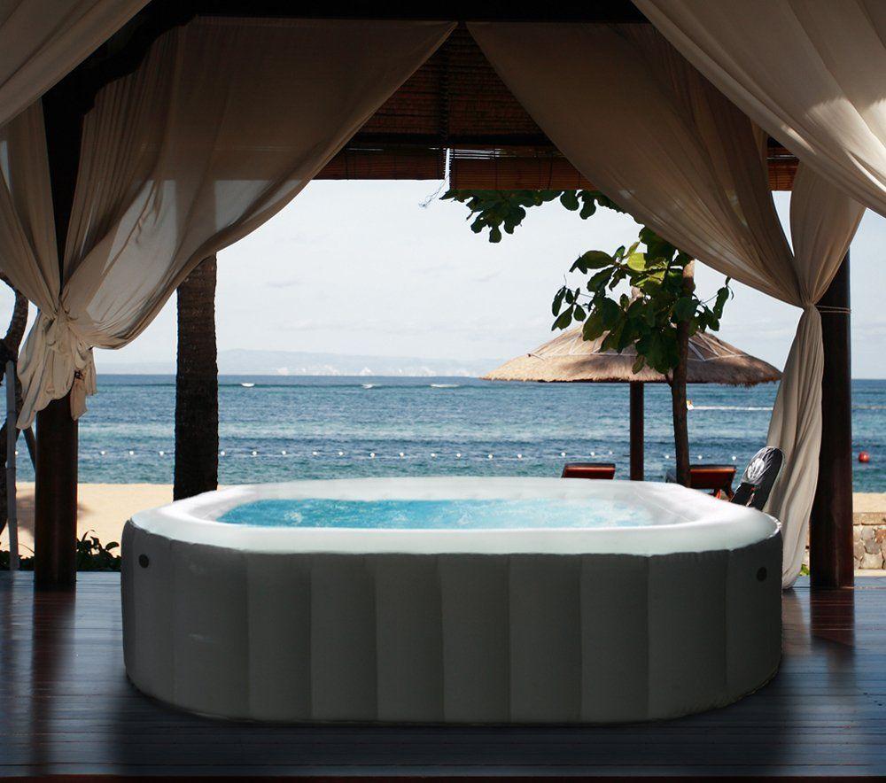 Apline Hot Tub, 62 By 62 By Black : Portable Spa : Patio, Lawn U0026 Garden
