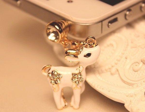 1pcs of Bling White Deer Dust Plug  iPhone Earphone Plug Dust Plug. $5.98, via Etsy.실시간바카라실시간바카라실시간바카라실시간바카라실시간바카라실시간바카라