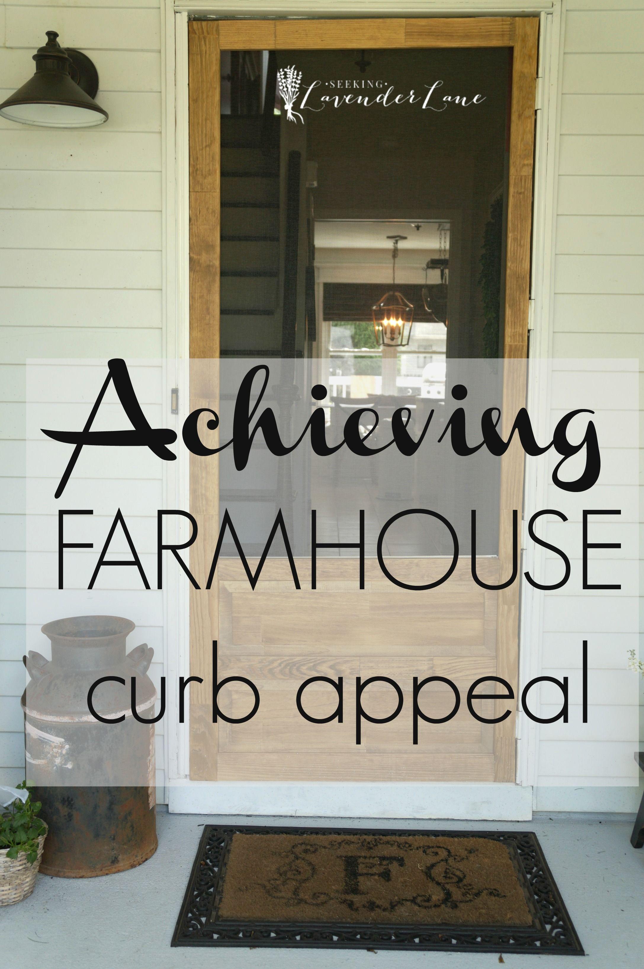 Front Yard Landscaping Ideas Achieving Farmhouse Curb Appeal Farmhouse Outdoor Decor Farmhouse Landscaping Curb Appeal