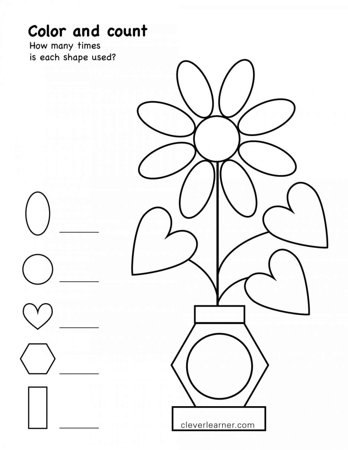17 Worksheet Preschool Shapes