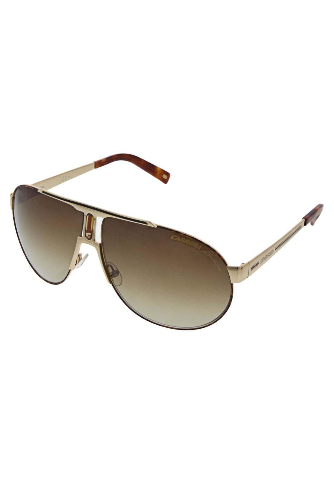 012857025d242 Óculos Solares Carrera Panamerika Dourado - Compre Agora   Dafiti Brasil