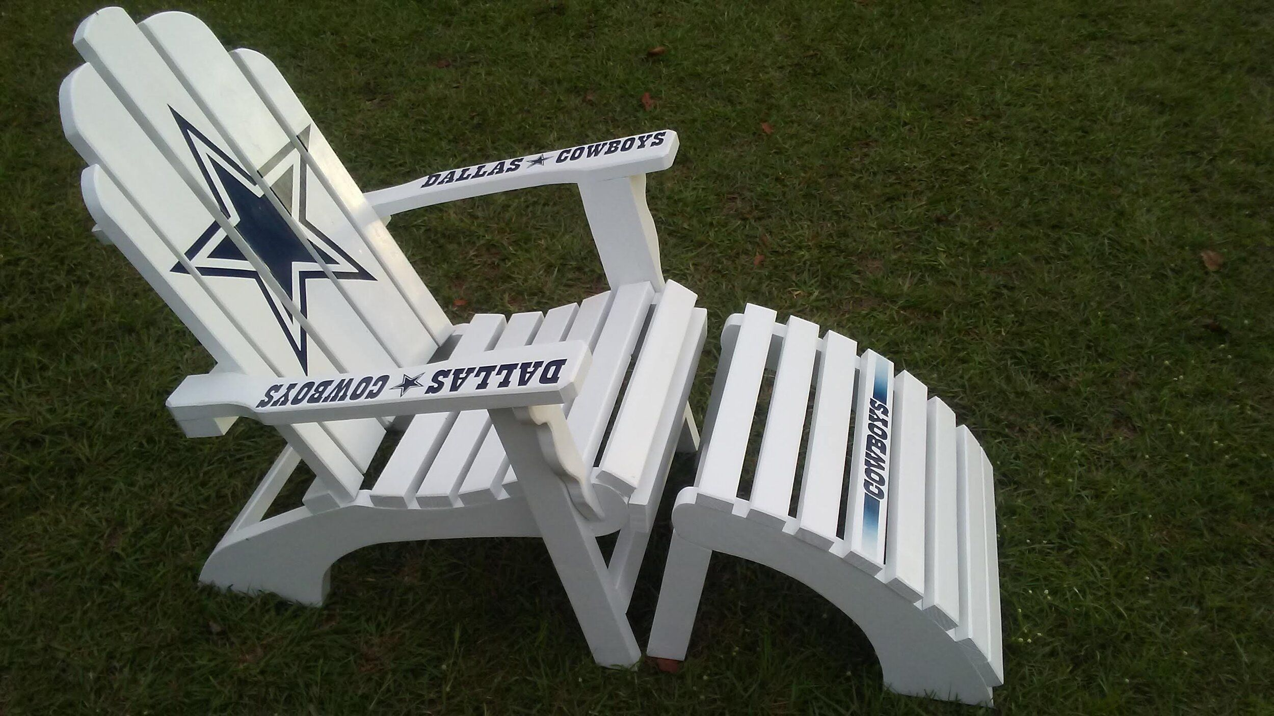 Custom Cowboy Chair And Leg Rest Wooden Cooler Outdoor Chairs Outdoor Decor