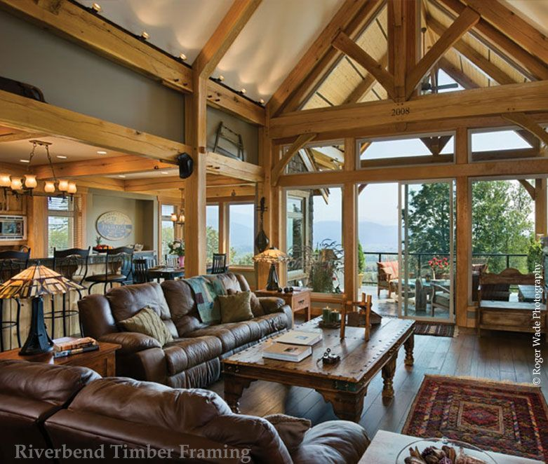 Home Galleries » Timber Mountain Retreat » Timber Trusses | Building ...