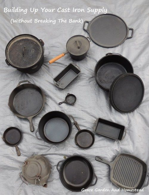There are some awesome tips here on how to build up a coveted cast iron supply, and how to be able to afford it all.