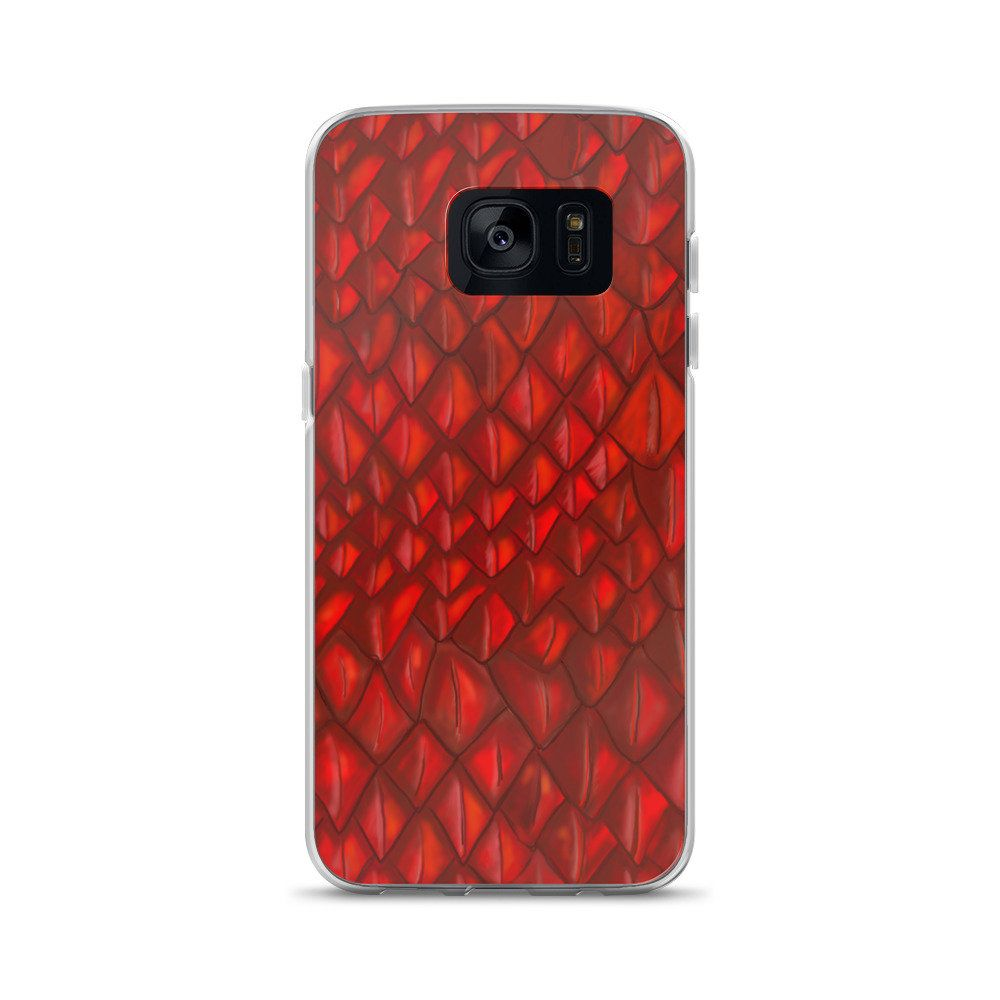 the latest 6dbb4 bc8c0 Game of Thrones Art Dragon Scales Red GOT Gift Samsung Phone Case ...