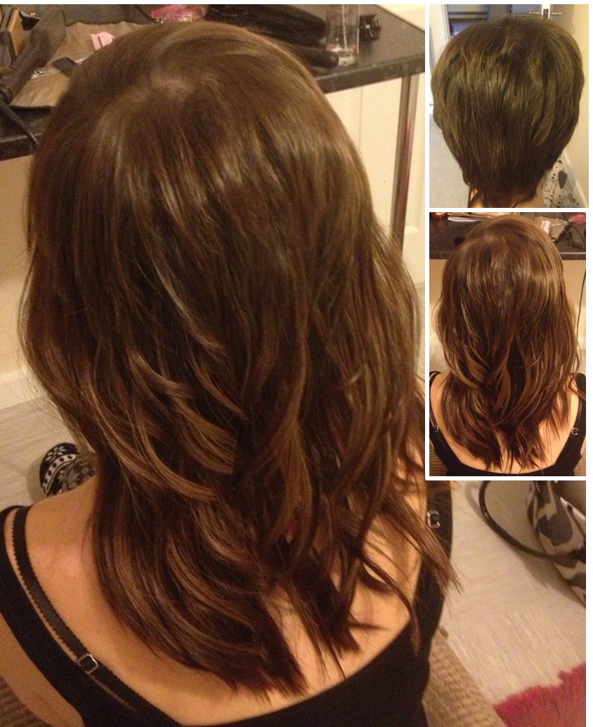 What an amazing change for our client from very short hair fitted hair style pmusecretfo Choice Image