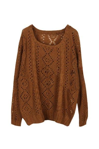 Diamond Dots Knitted Sweater