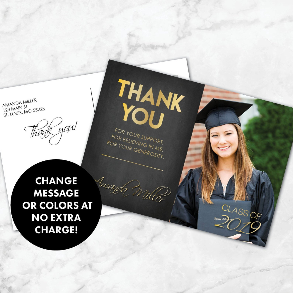 Graduation Thank You Card Thank You Graduation Card Thank Etsy Graduation Thank You Cards Graduation Cards Thank You Cards