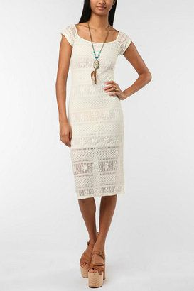 Lucca Couture Bodycon Lace Midi Dress