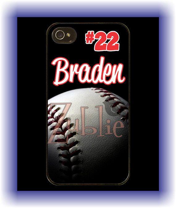 Personalized Baseball Mom Phone Case on Etsy, $10.00