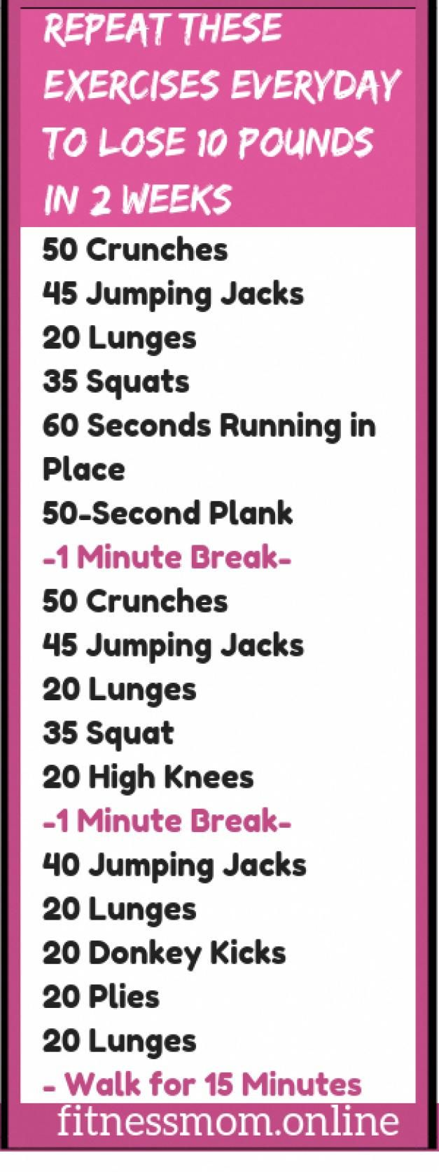 Use These Exercises Everyday To Lose 10 Pounds In 2 Weeks