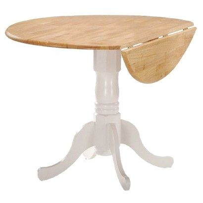 Round Drop Leaf Pedestal Dining Table   International Concepts