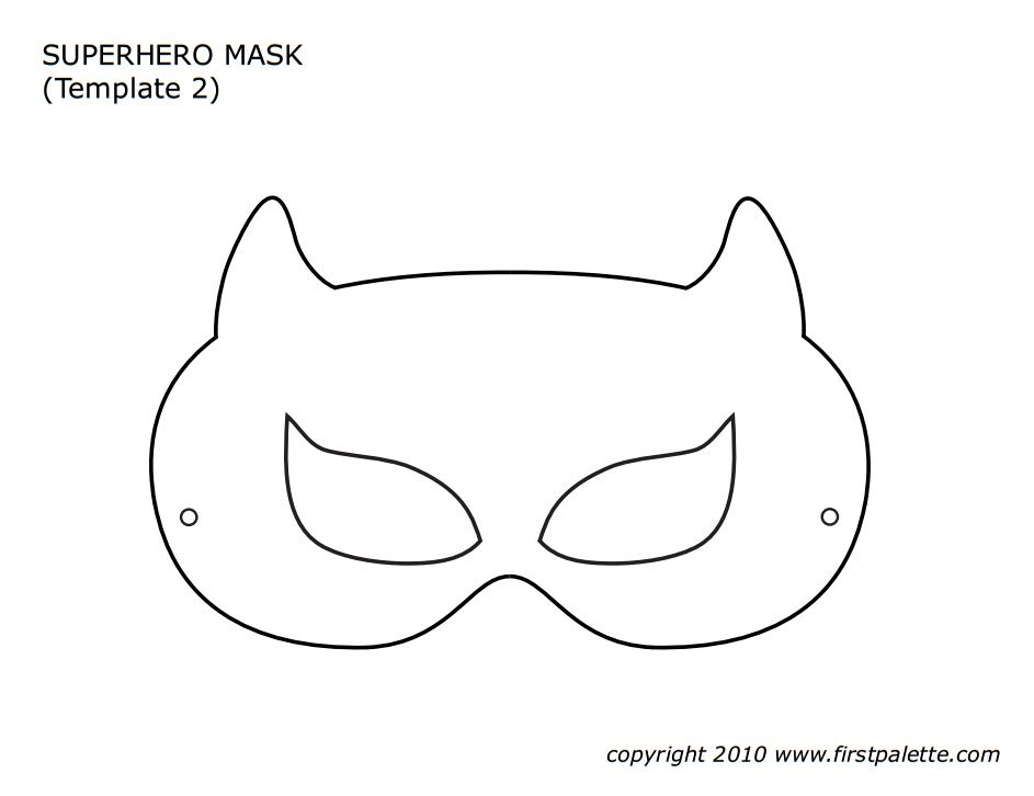 Superhero Mask Template Carnival Pinterest Mask template - printable mask template