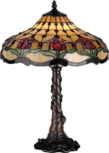 Colonial Tulip Table Lamp Meyda Tiffany Tulip Table Lamp