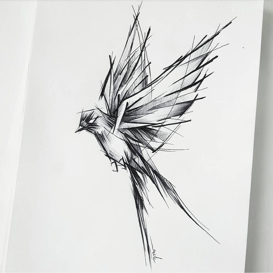 Bird Tattoo Design By Rysaatattoo Tattoodesign Tattoo Design Sketch Sketchstyle Project Tattooproject Linewo Tattoo Design Drawings Bird Sketch Tattoos