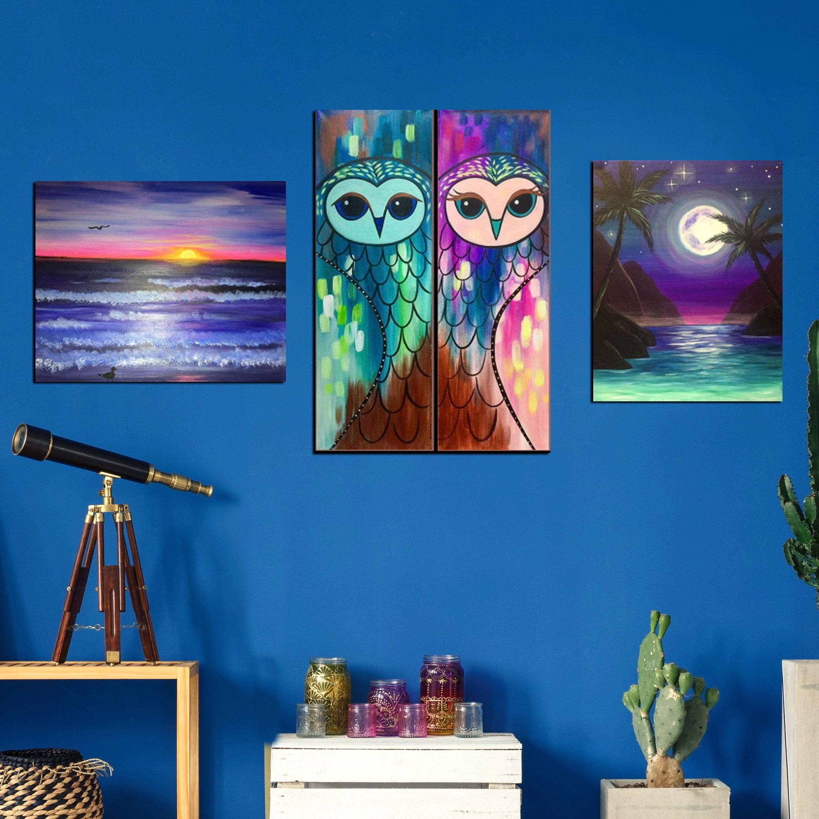 Paint and sip with friends and family while creating decor