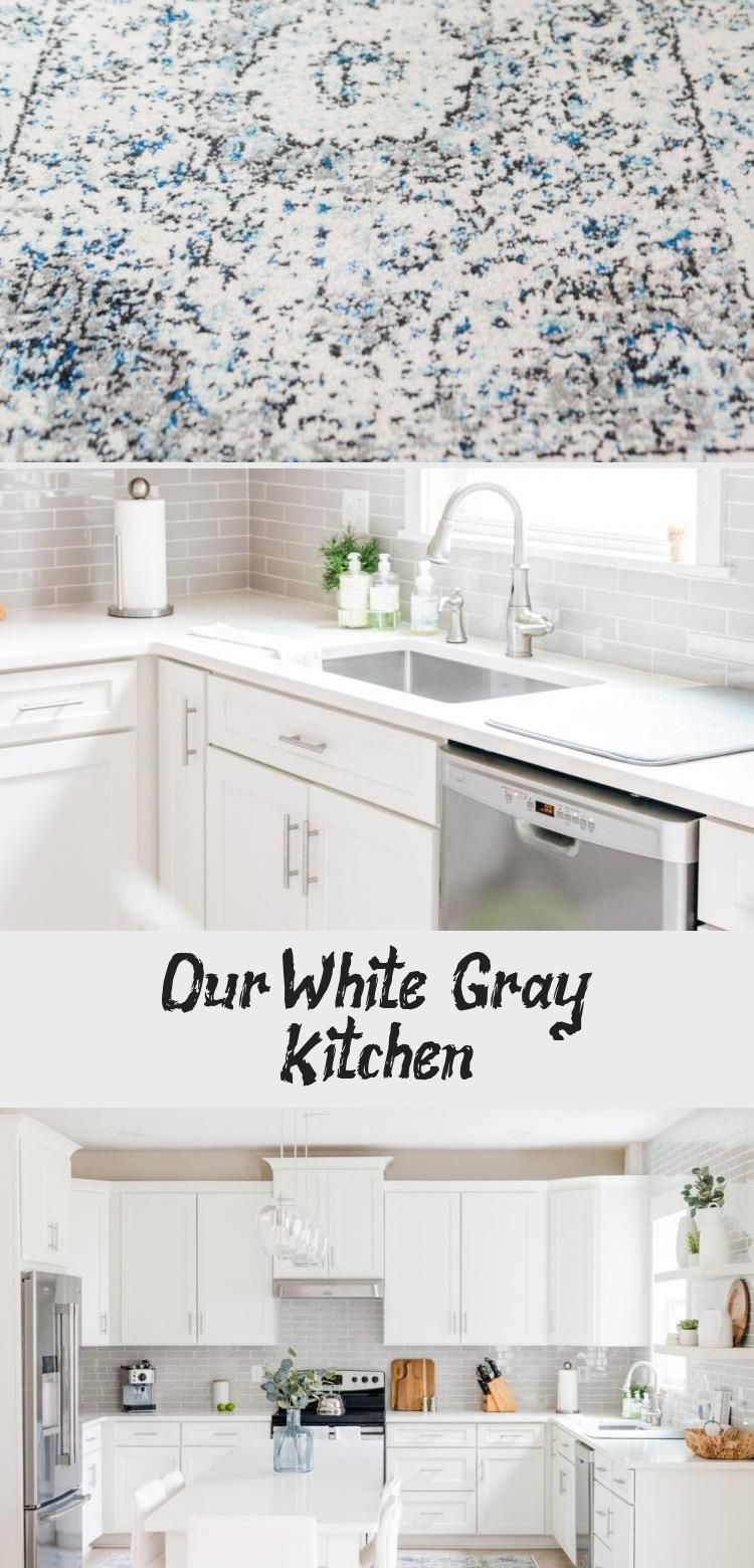 Our White & Gray Kitchen #whiteshakercabinets