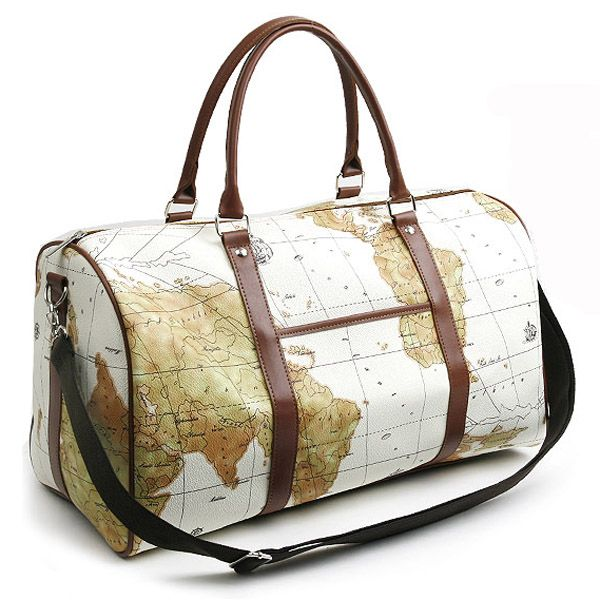 Trendy world map duffle bag for girls 2017 fashion pinterest korean fashion style mens bag duffle travel luggage gym shoulder tote map bag in clothing shoes accessories gumiabroncs Image collections