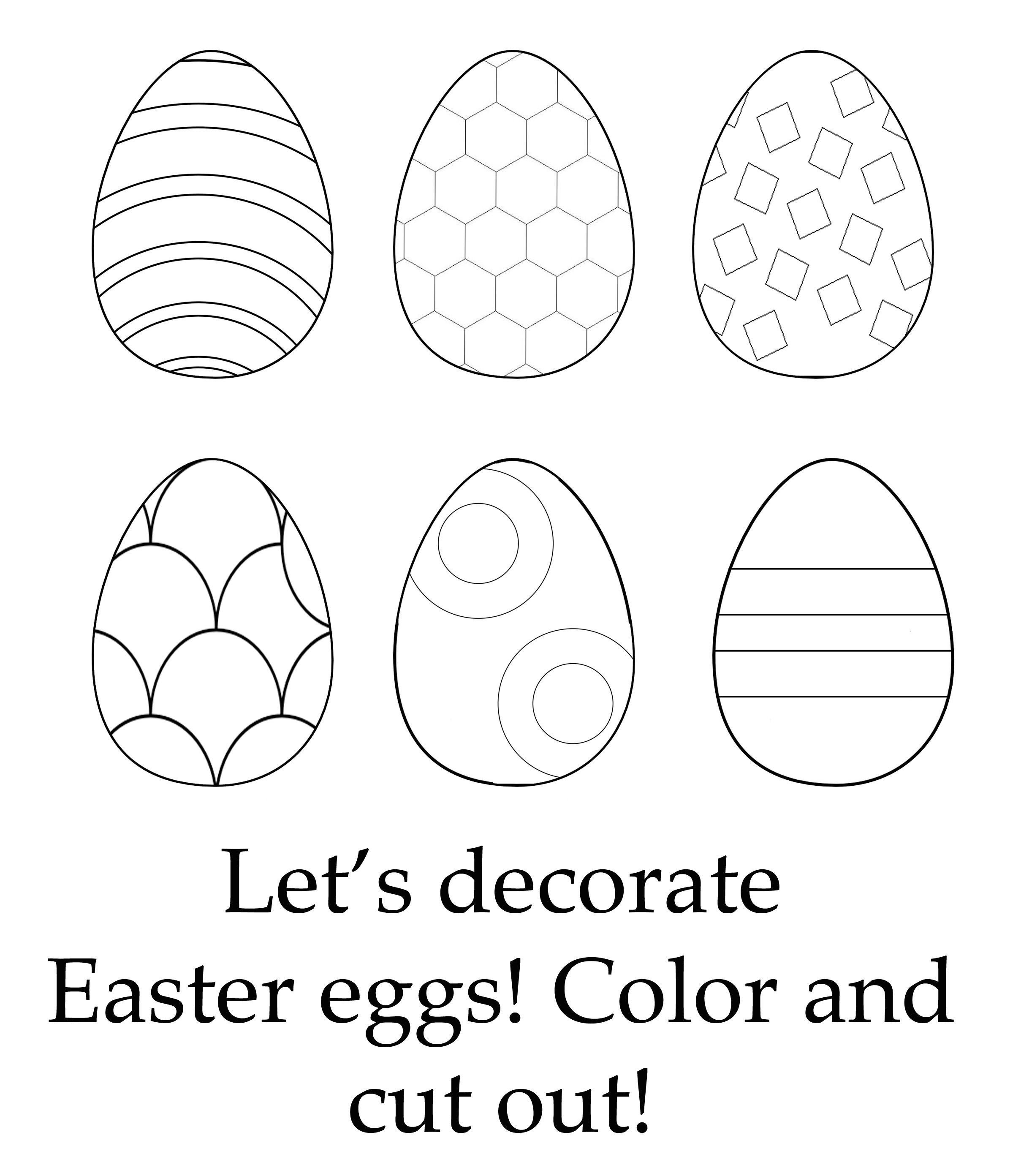 Color Easter Eggs Activity For Toddlers With Images