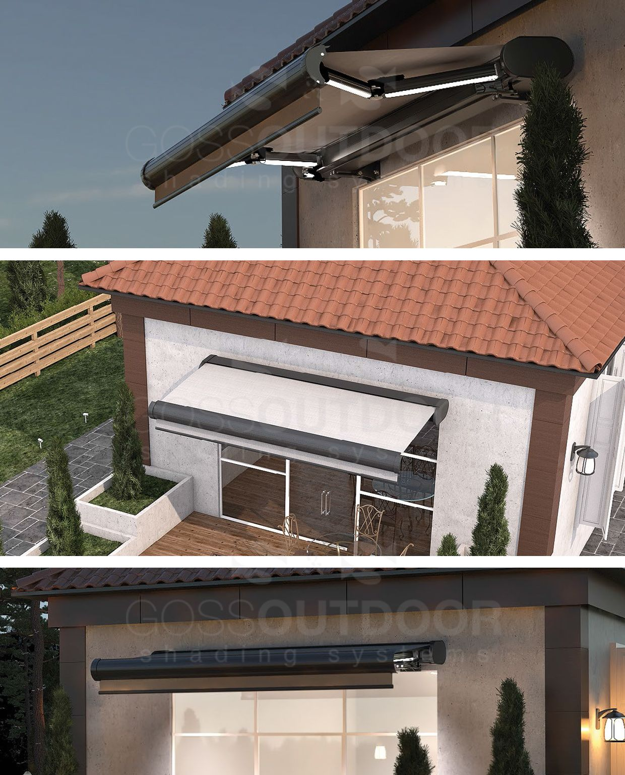 Pars Plus Luxe Cassette Awning House Styles Alfresco Awning