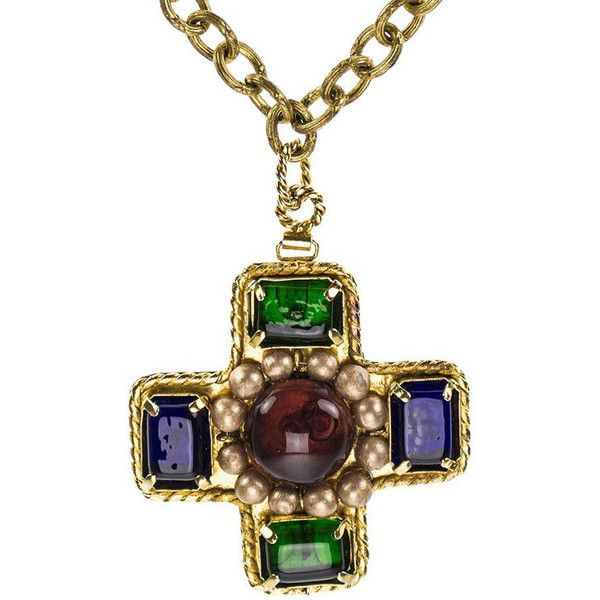 Chanel vintage gold tone purple gripoix cross pendant necklace chanel vintage gold tone purple gripoix cross pendant necklace 1900 liked on aloadofball Gallery