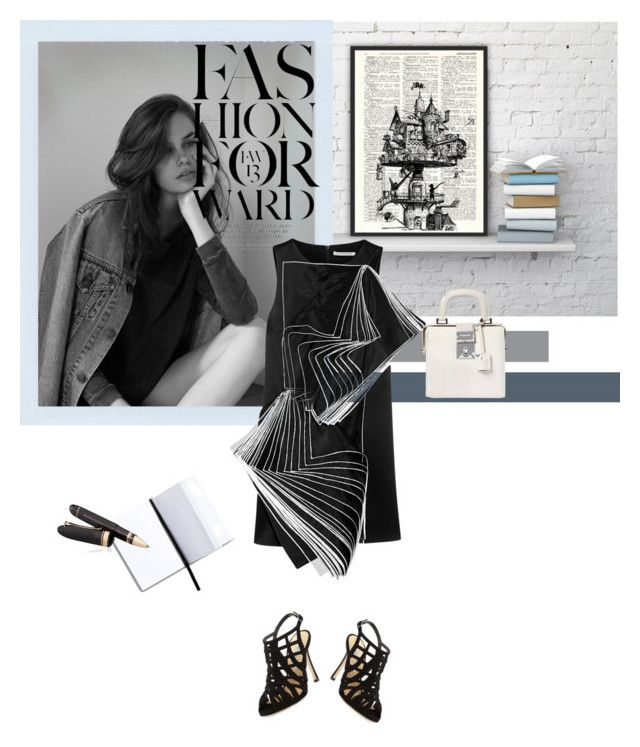 """""""Fashion Forward"""" by ginnyscloset ❤ liked on Polyvore featuring Amie, H&M, Manolo Blahnik, Dsquared2, Christopher Kane and OMAS"""