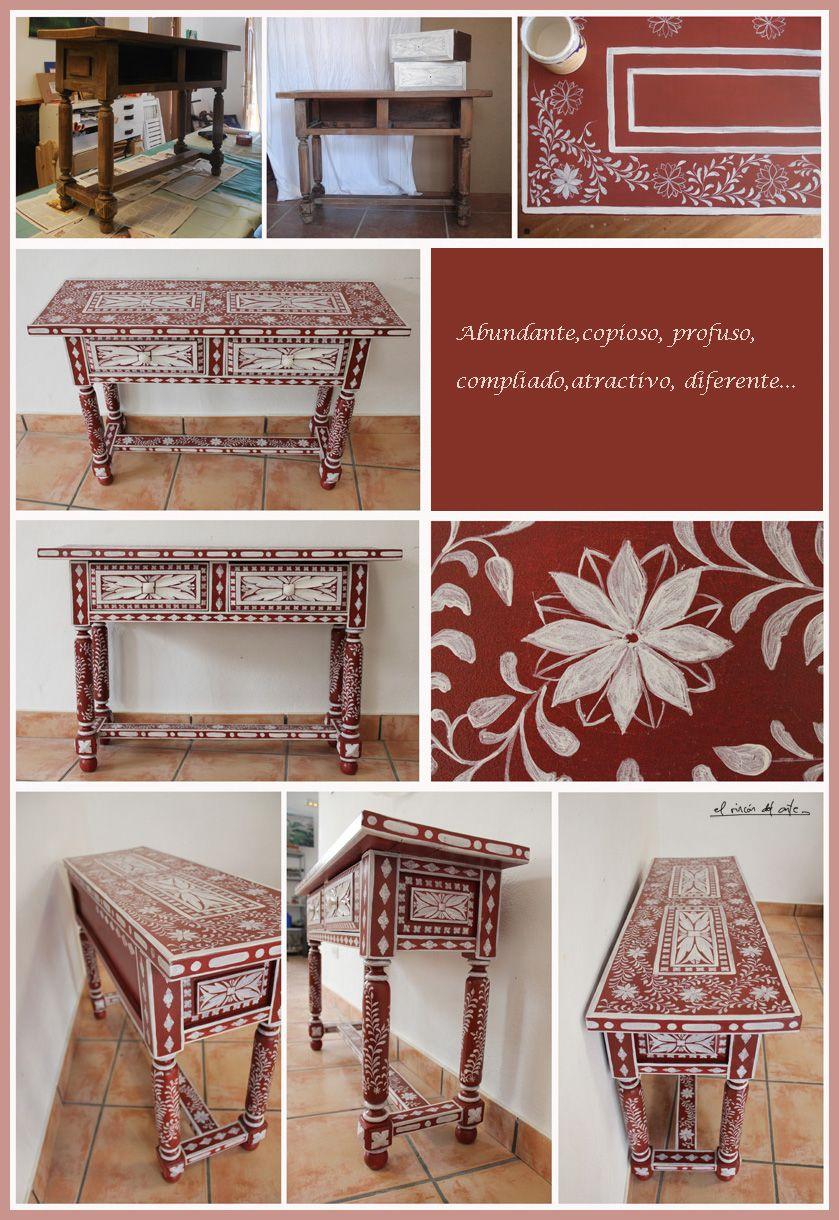 cómoda castellana pintada a mano http://blogdelrincondelarte.blogspot.com