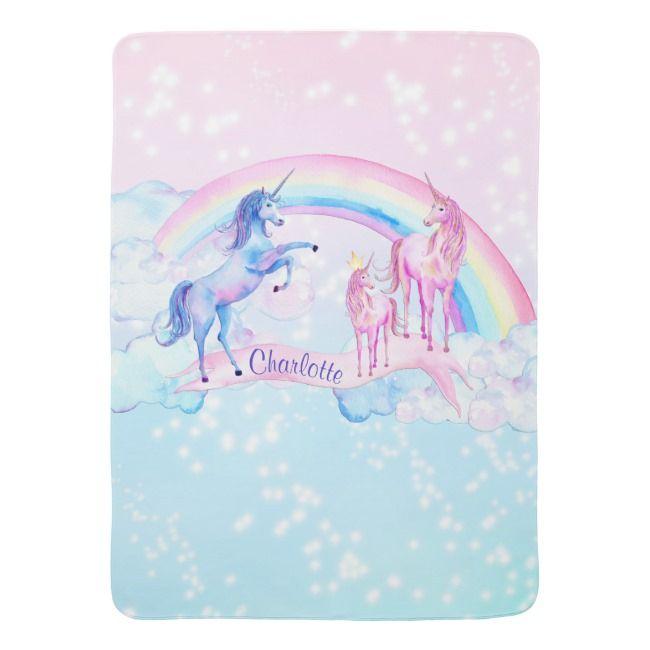 Unicorn Baby Blanket #unicorn #unicornbaby #unicornbabyblankets #unicornblankets #unicorngifts