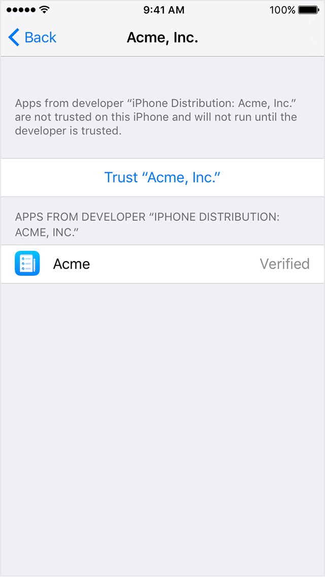 Trust For Developer 2 Development Device Management Iphone Solution