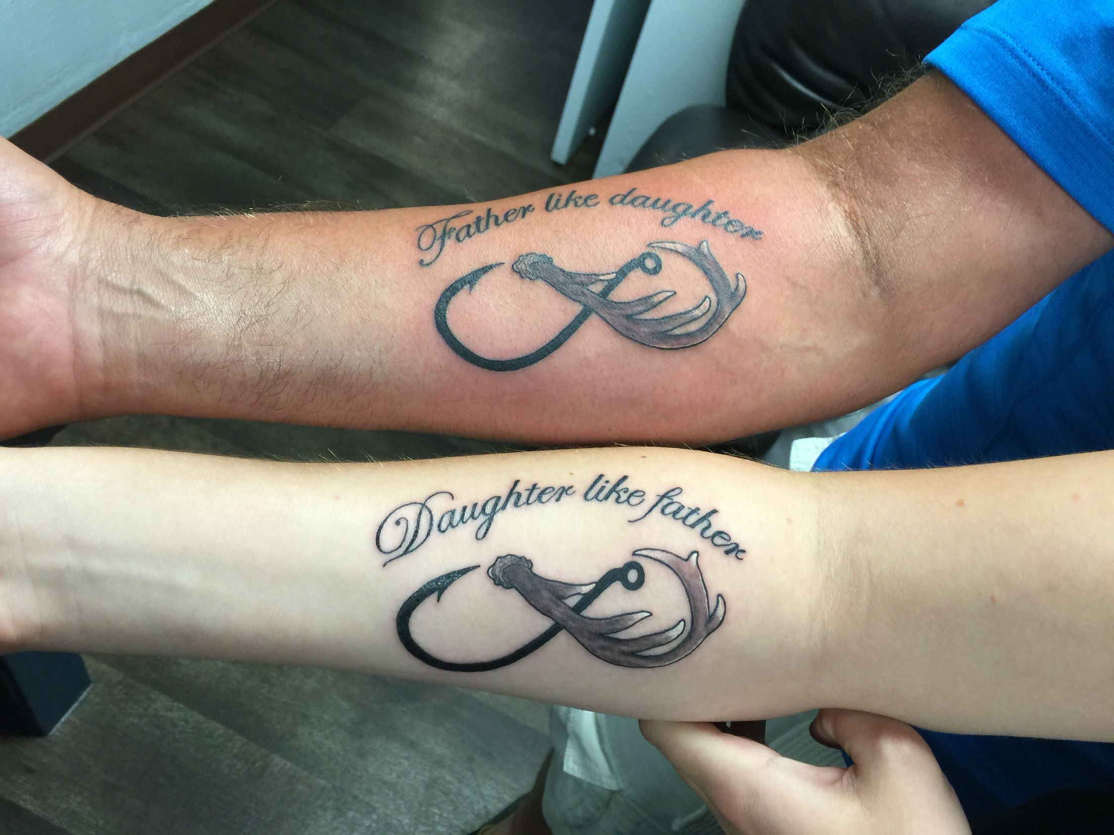 father daughter tattoo infinity