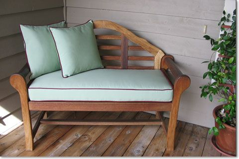 Sunbrella Bench Cushions Boxed With