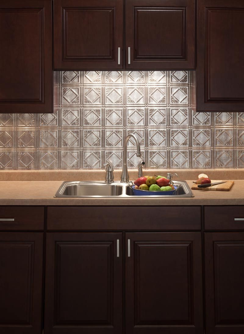 - Traditional 4 Crosshatch Silver Kitchen Backsplash (With Images