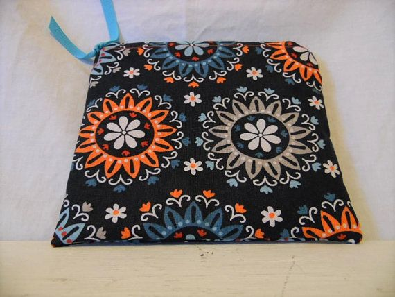 Colorful Flowers Zippered Pouch, Zipped Pouch, Cosmetic Bag, Makeup Pouch, Electronic  Cord