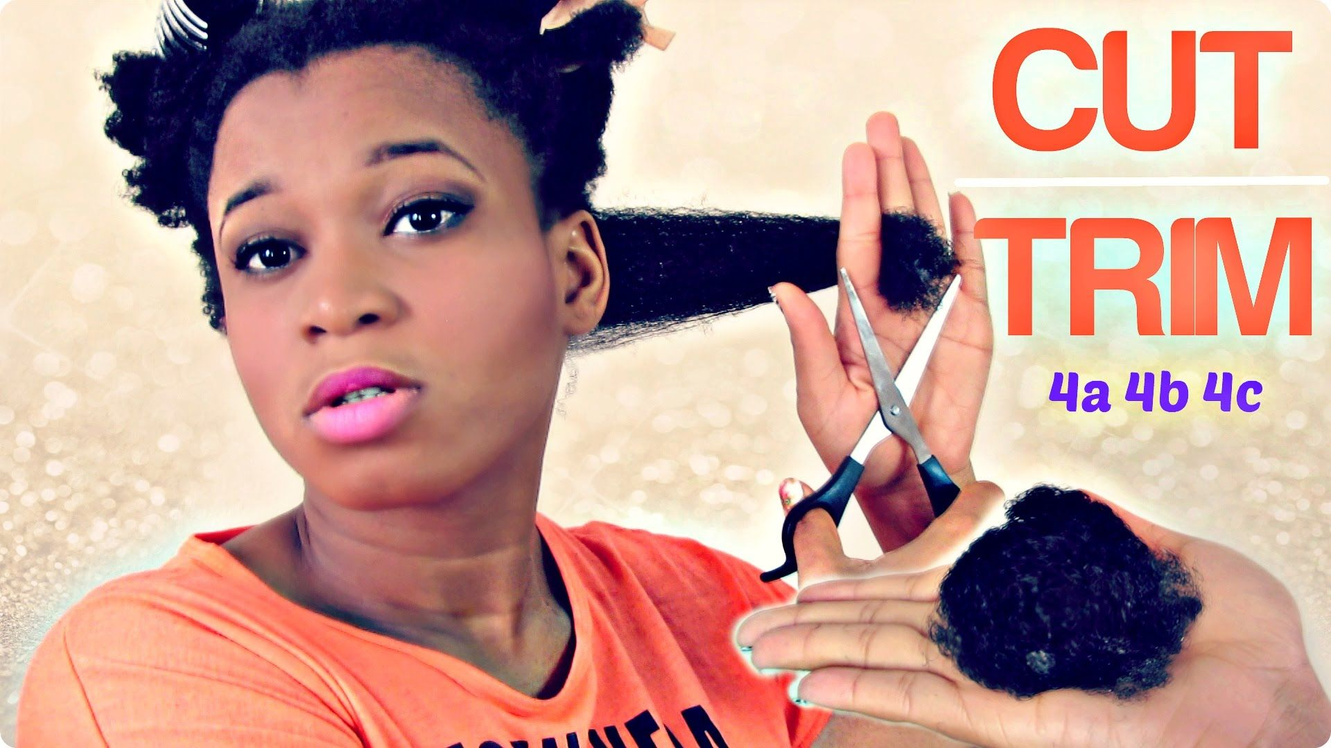 how i cut/trim my thick natural hair | type 4a 4b 4c