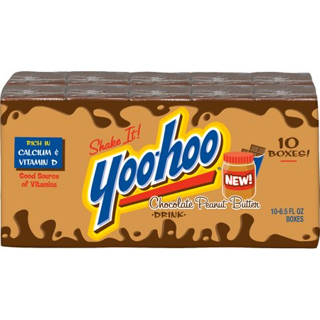 Pack Of 4 Yoo Hoo Chocolate Peanut Butter Drink 6 5 Fl Oz Boxes 10 Count Walmart Com Chocolate Peanuts Cookies And Cream Chocolate Peanut Butter