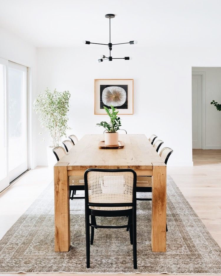 Big Sur Crate And Barrel Parsons Table Simple Dining Space With